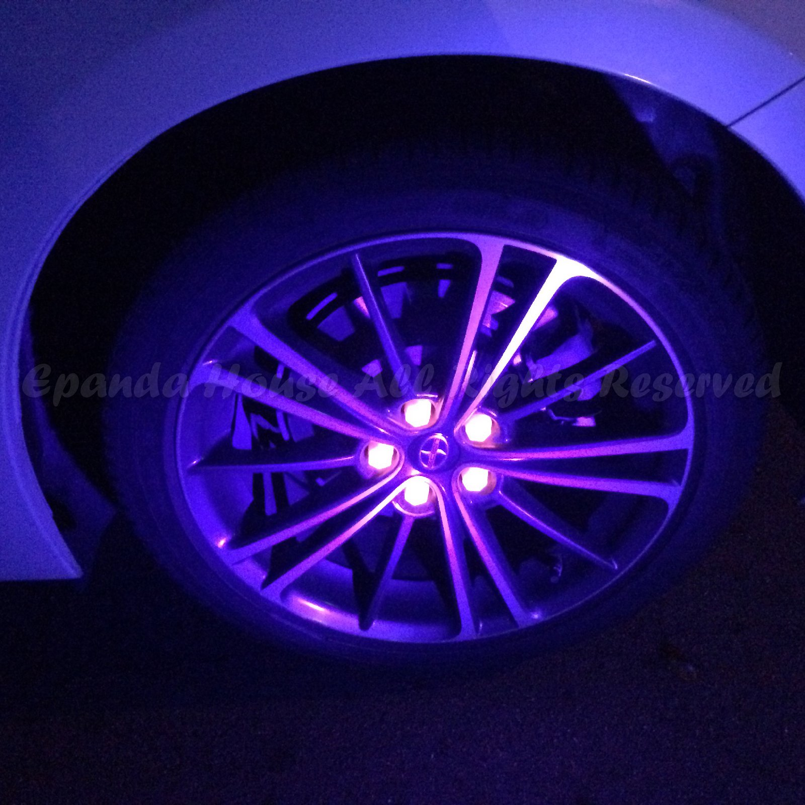 21mm 20X Glow In The Dark Blacklight Wheel Rim Lug Nuts Covers Cars/Bikes Pink by EpandaHouse (Image #6)