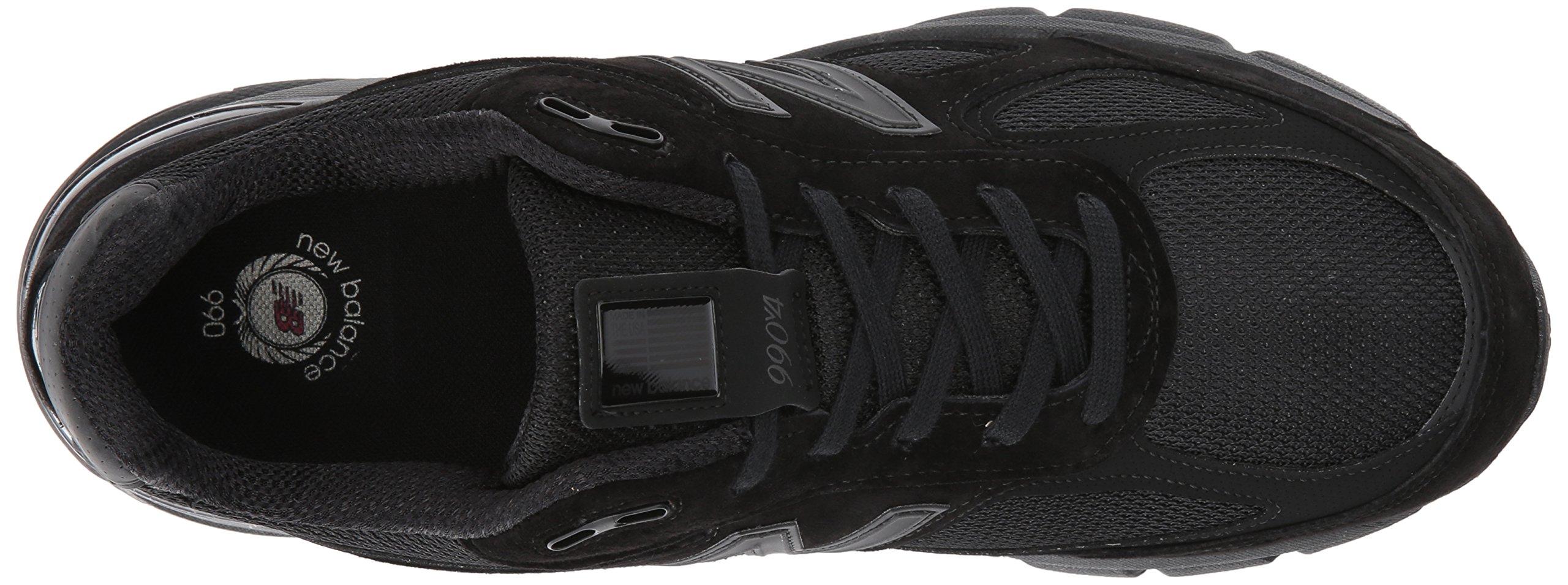 New Balance Men's 990V4 Running Shoe, Black/Black, 11 2E US by New Balance (Image #8)
