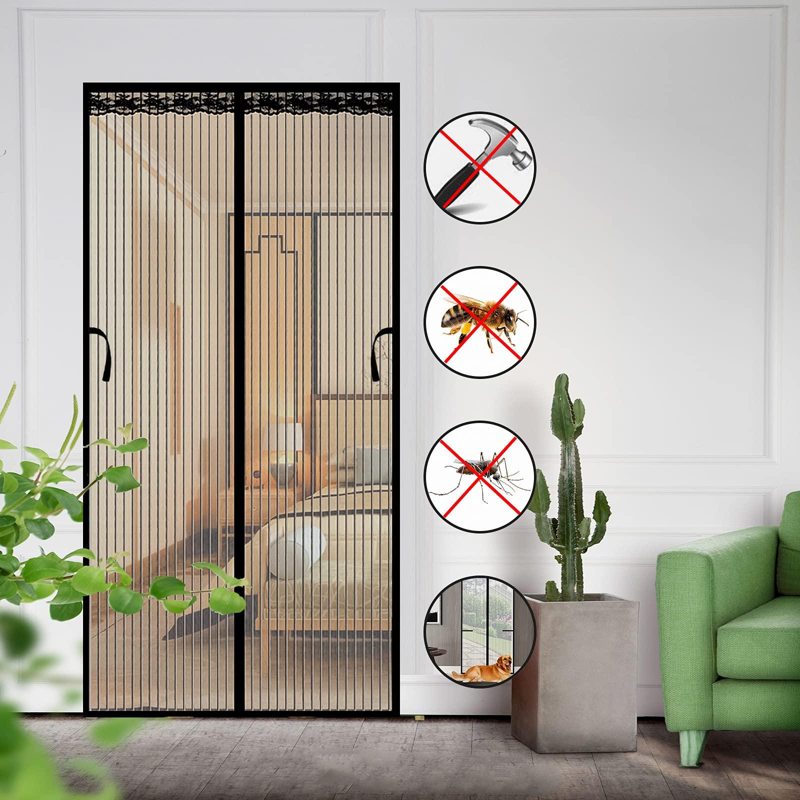 Magnetic Screen Door 39×83 inch Durable Mesh Curtain Door Net Screen with