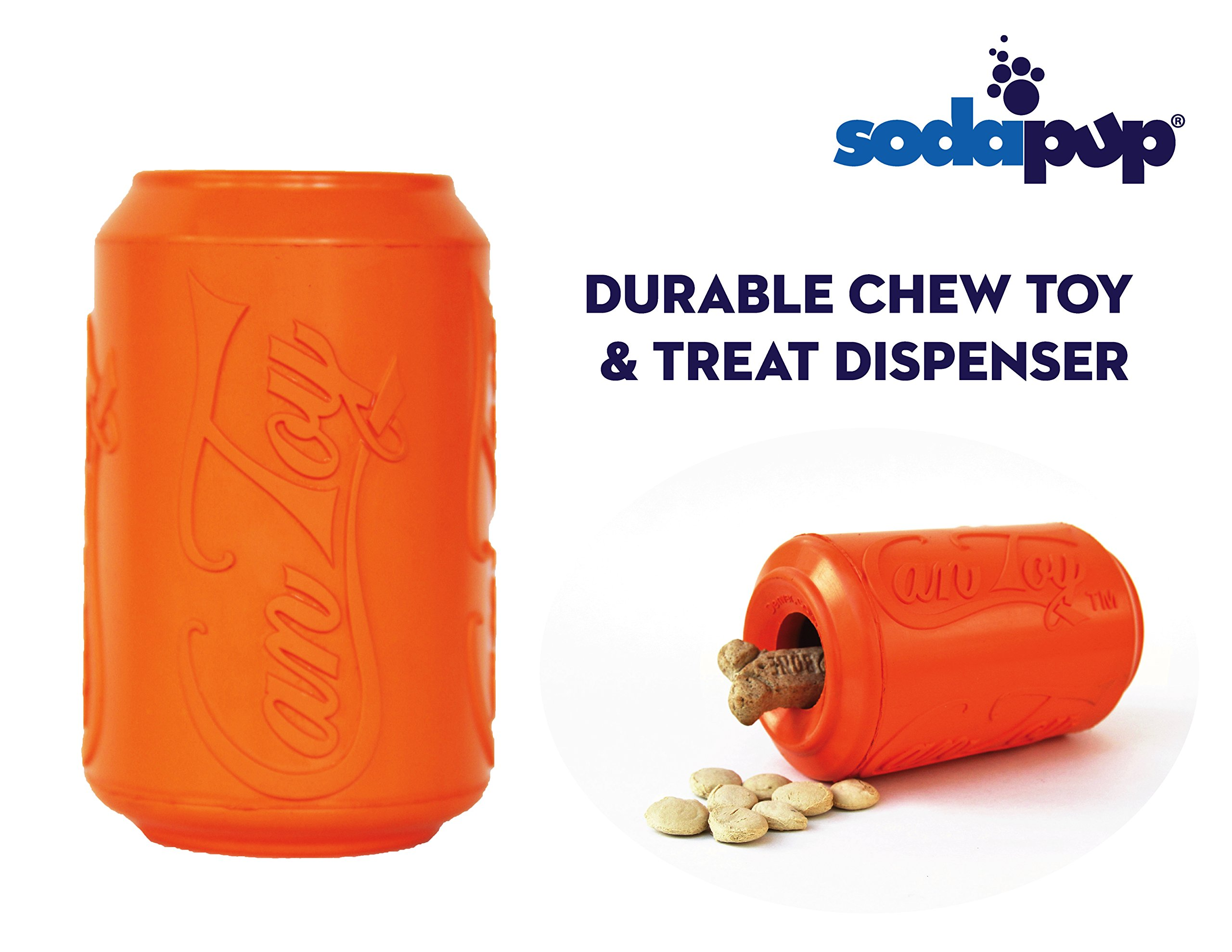 SodaPup Dog Chew Toy and Treat Dispenser – Enrichment Dog Toys – Treat Dispensing Dog Toys – Dog Puzzle Toys – Dog Treat…