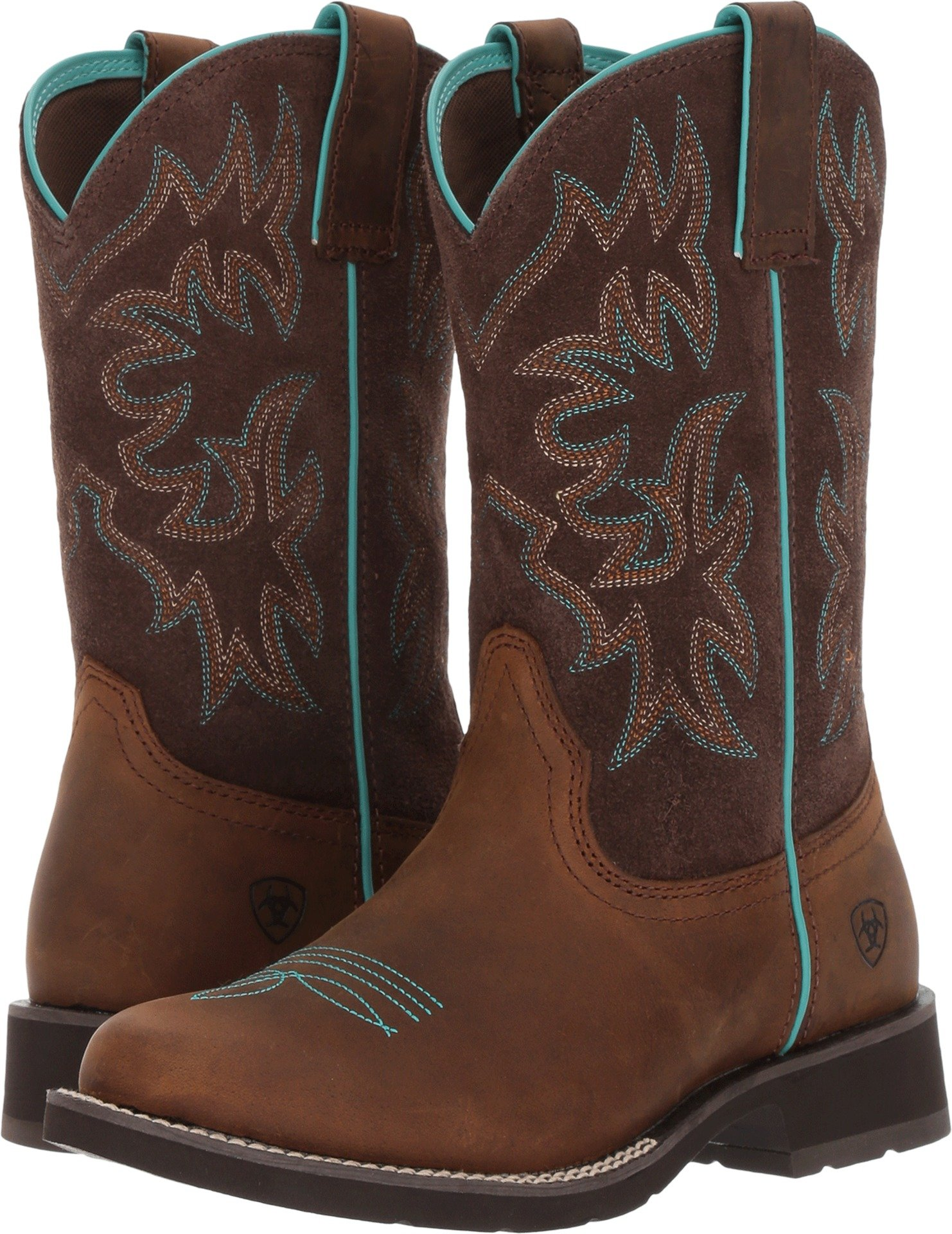 Ariat Women's Delilah Round Toe Work Boot, Distressed Brown, 6 B US
