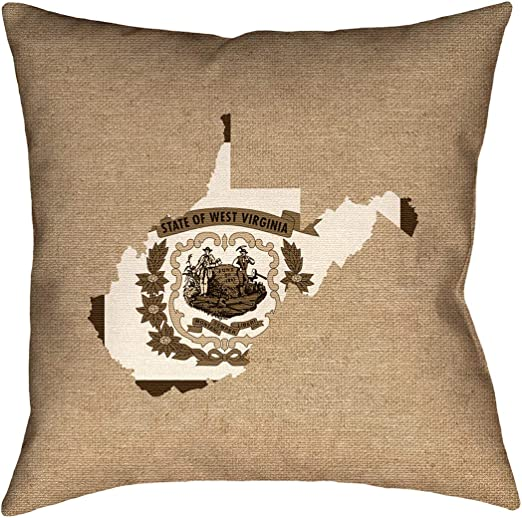 ArtVerse Katelyn Smith 18 x 18 Cotton Twill Double Sided Print with Concealed Zipper /& Insert Alabama Love Pillow