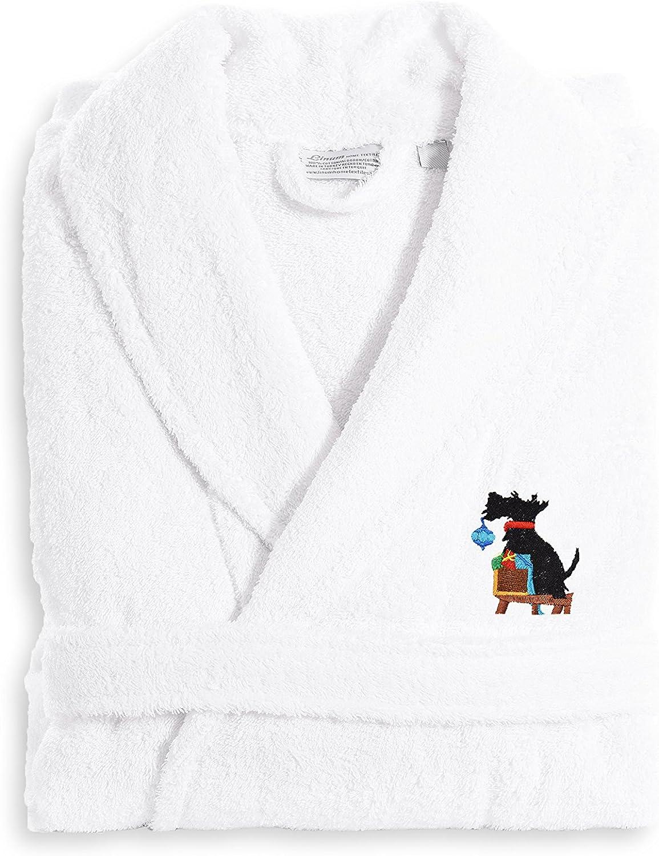 Linum Home Textiles TR00-LX-DOG Terry Robe Christmas Dog