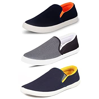 Mens Combo Pack of 3 Synthetic Loafers