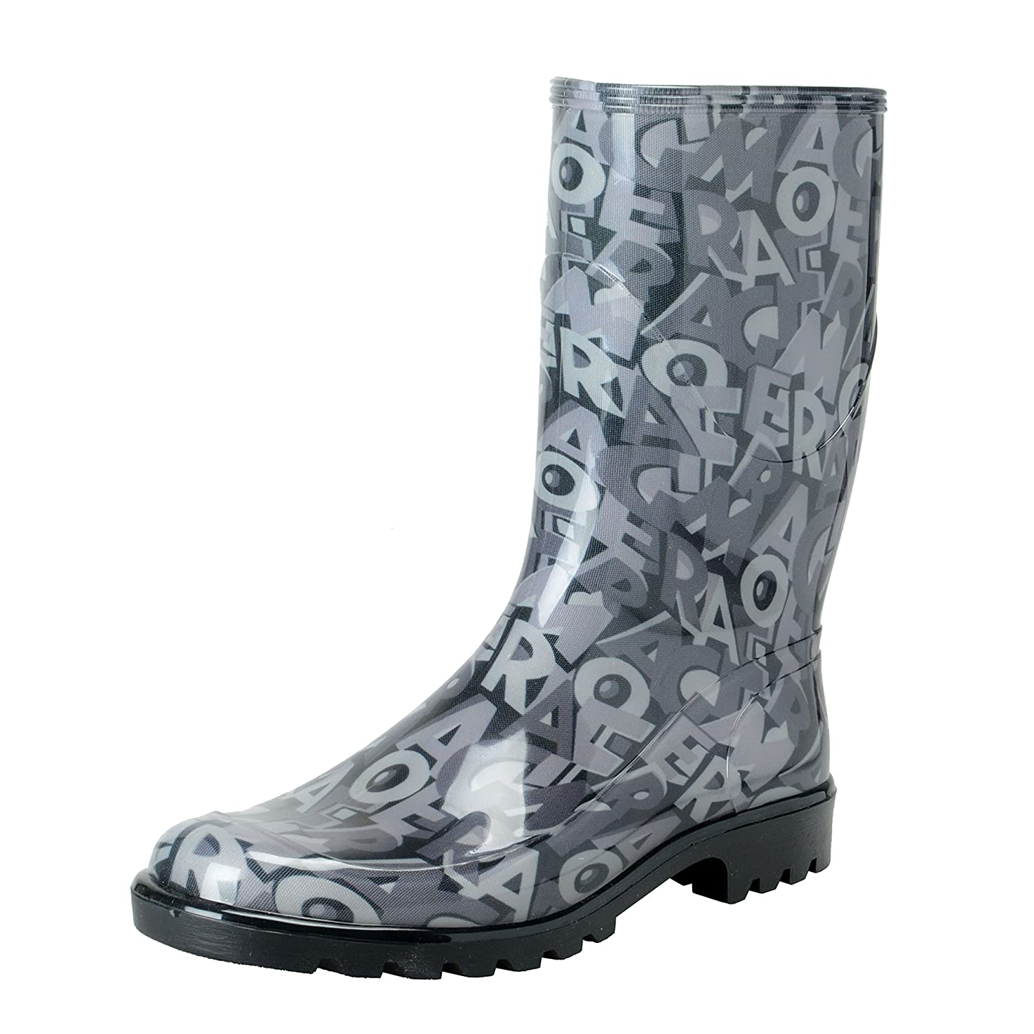 Salvatore Ferragamo Women's FARABEL Logo Print Rainboots Shoes US 10 IT 40 Shoes-2959-4