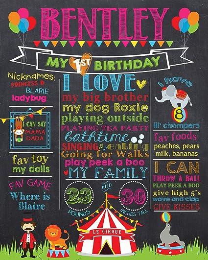 Amazon.com: Dozili personalizado circuito primer cumpleaños ...