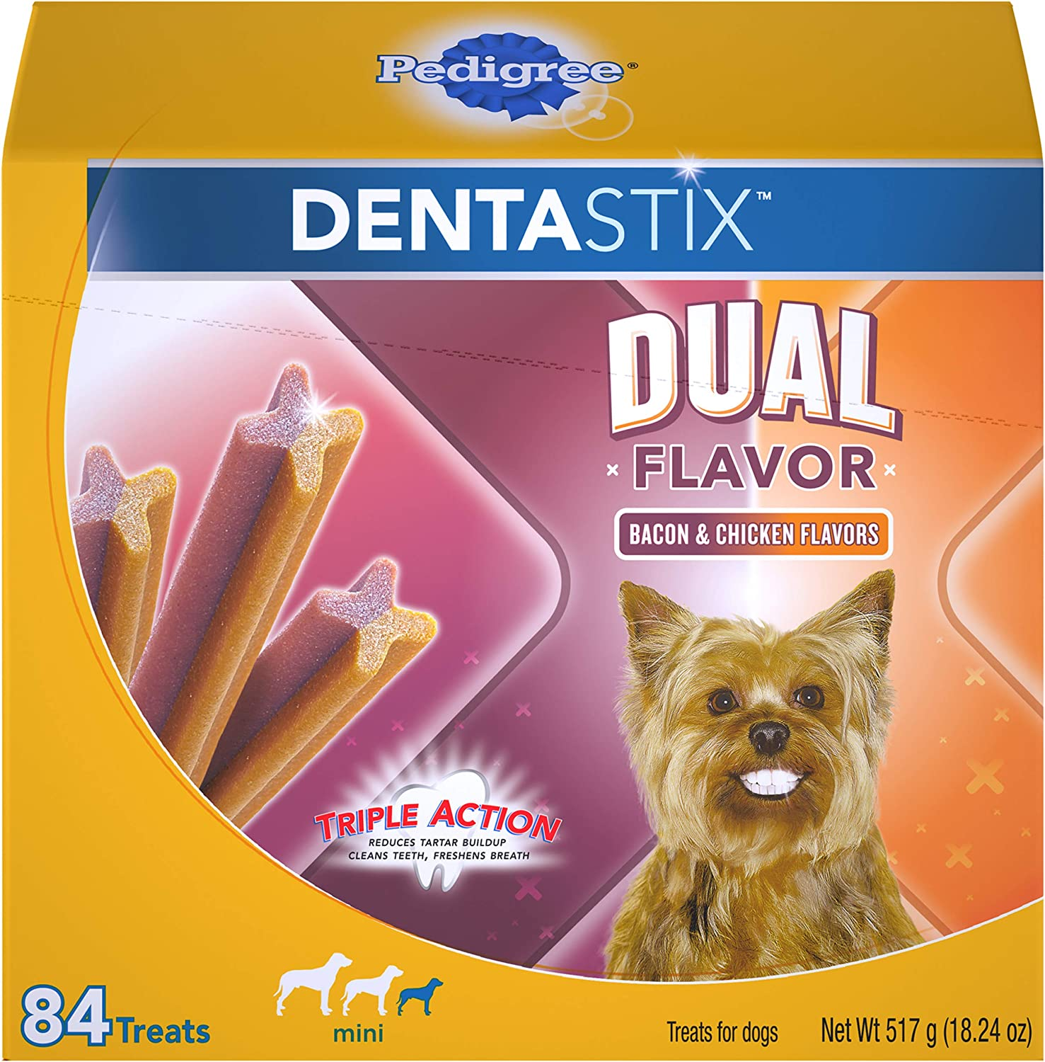 Pedigree DENTASTIX Adult & Puppy Toy/Small Treats for Dogs 5-20lbs.