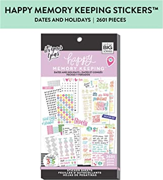 Create 365 The Happy Planner Value Pack Stickers DATES /& HOLIDAYS 2601 pcs