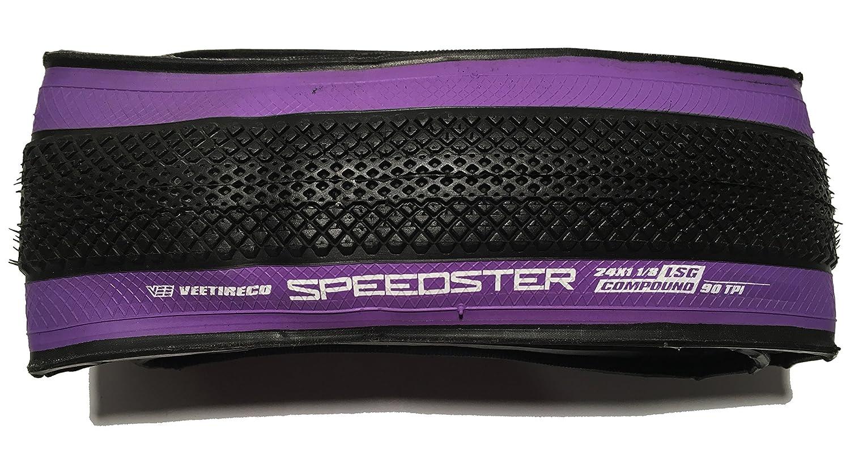 Vee Tire 24X1 1//8 BMX Speedster Purple Wall Folding Bead Bike Tire BMX