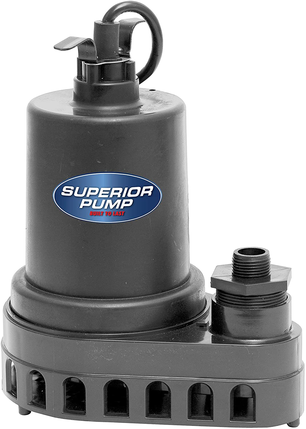 Superior Pump 91570 1/2 HP Thermoplastic Submersible Utility Pump with 10-Foot Cord