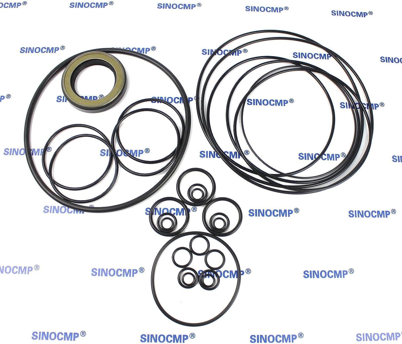 Juegos de sellos SINOCMP para piezas excavadoras Hitachi EX200-1 garant/ía de 3 meses Juego de sellos ADJ ajustador de pista EX200-1