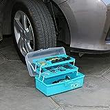 Kurtzy Storage Repair Tool Box Case Portable 3 Compartments/Layers Multipurpose Medicine Organiser