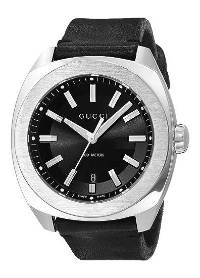 cbc9f0a5dd1 Gucci Men s YA142206 Analog Display Swiss Quartz Black Watch  Amazon.ca   Watches