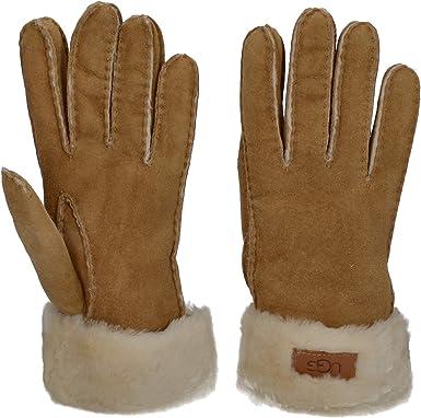 UGG Turn Cuff Water Resistant Sheepskin Gloves Chestnut LG