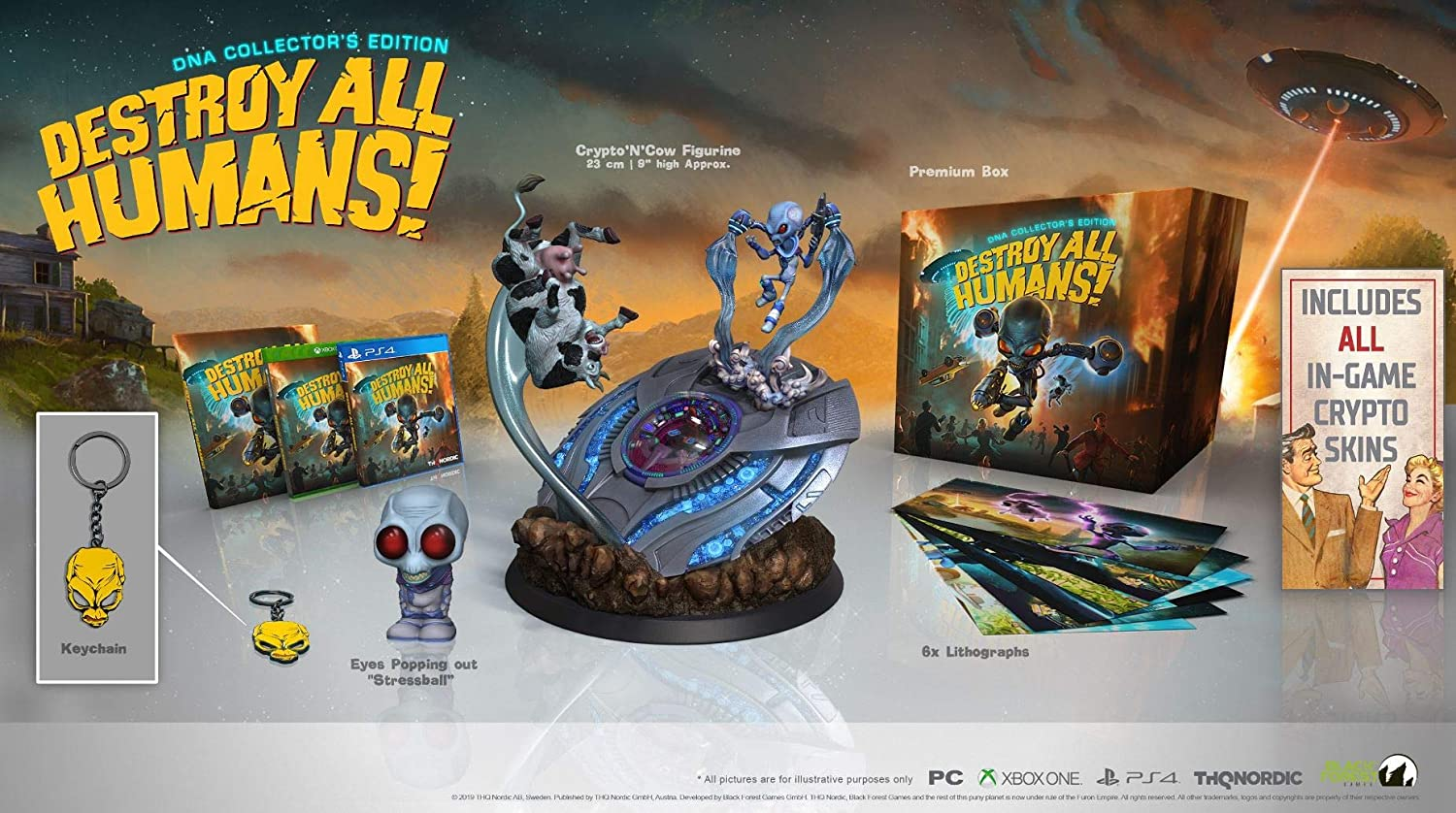 destroy all human collector's edition contenuti