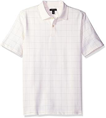 6b08370295b7 Van Heusen Men s Printed Short Sleeve Windowpane Polo Shirt at ...