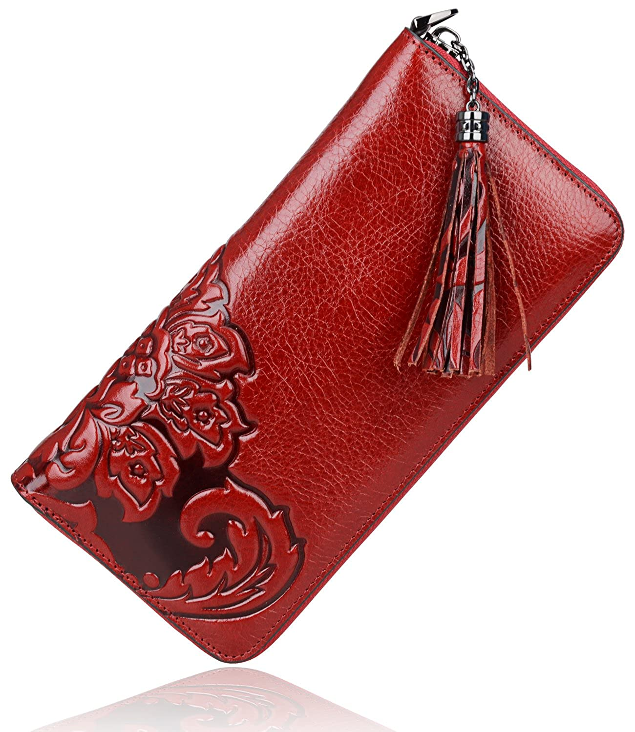 PIJUSHI Classic Clutch Genuine Leather Long Wallet Card Holder Purse 91854