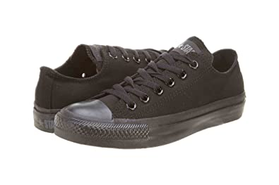 f7ad14e30e1 Converse Unisex Chuck Taylor All Star Ox Low Top Classic Black Monochrome  Sneakers - 12 D