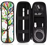 """MoKo Holder Case for Apple Pencil/Apple Pencil 2, PU Leather Case for Samsung Stylus Pen Surface Pen,Fit iPad Air (3rd Generation) 10.5""""/iPad Mini(5th Generation)7.9"""" 2019 Pencil, Lucky Tree"""