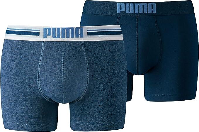 PUMA Placed Logo Boxer 2p Bañador, Hombre