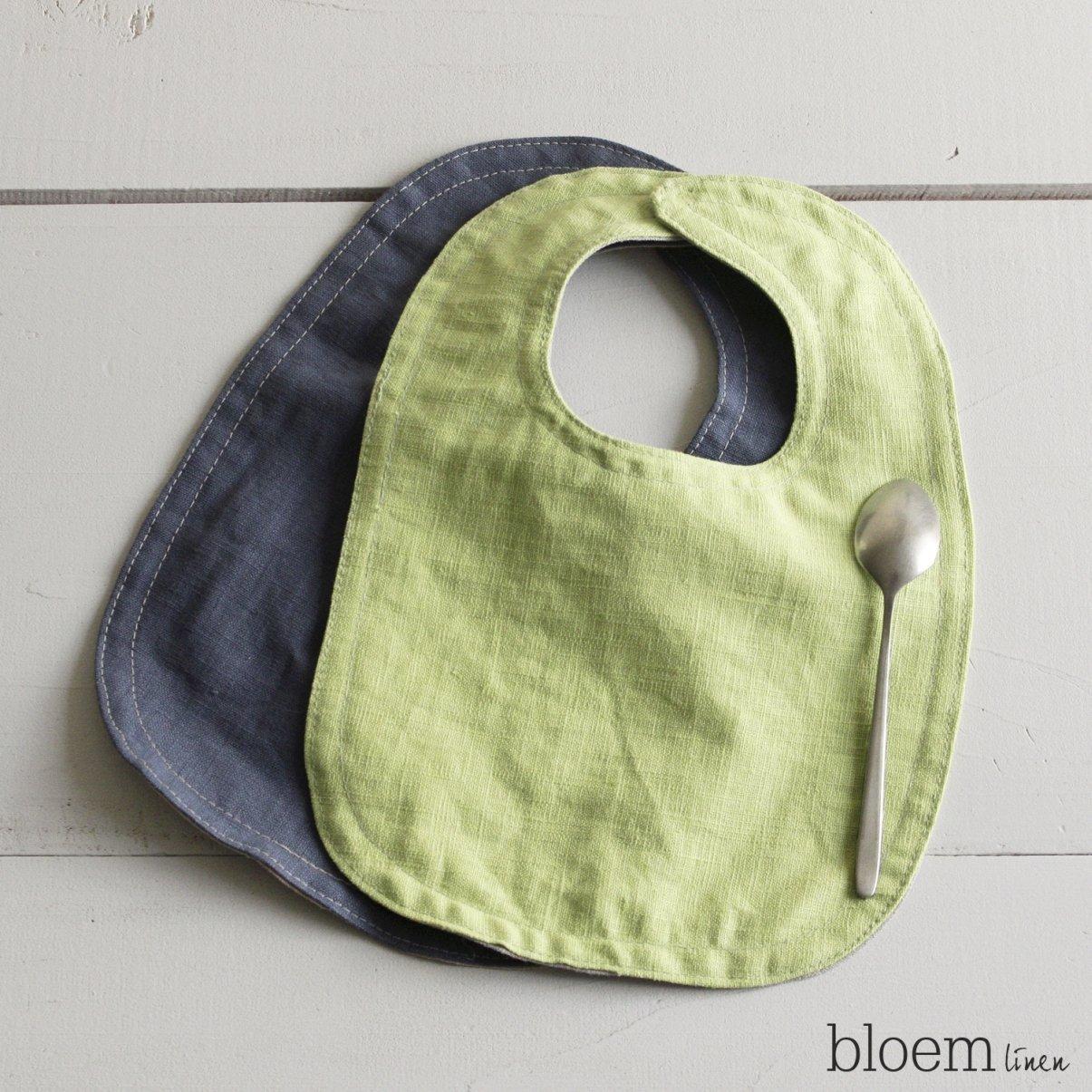 Set of two linen bibs, Baby shower gift, Toddler, Burp cloth