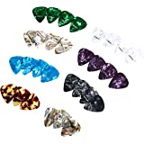 AmazonBasics Guitar Picks, Mixed Colors, Celluloid, 30-Pack