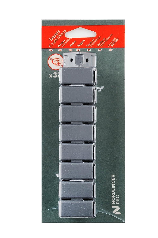 Nordlinger Pro 740057 ENSEMBLE DE 32 TAQUETS DASSEMBLAGE GRIS ALU