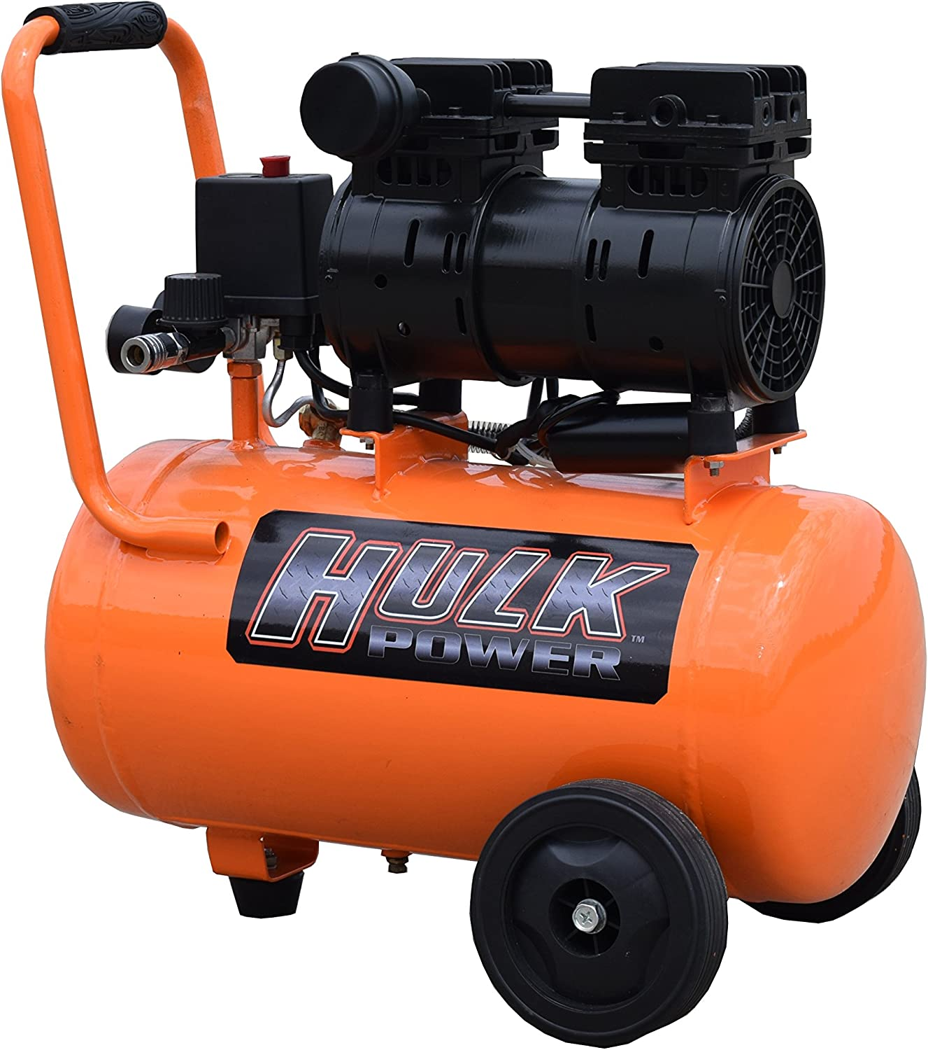 1 HP Quiet Portable Air Compressor, 120 PSI, 6 Gallon, HULK Silent Series, Model HP01P006SS by EMAX Compressor