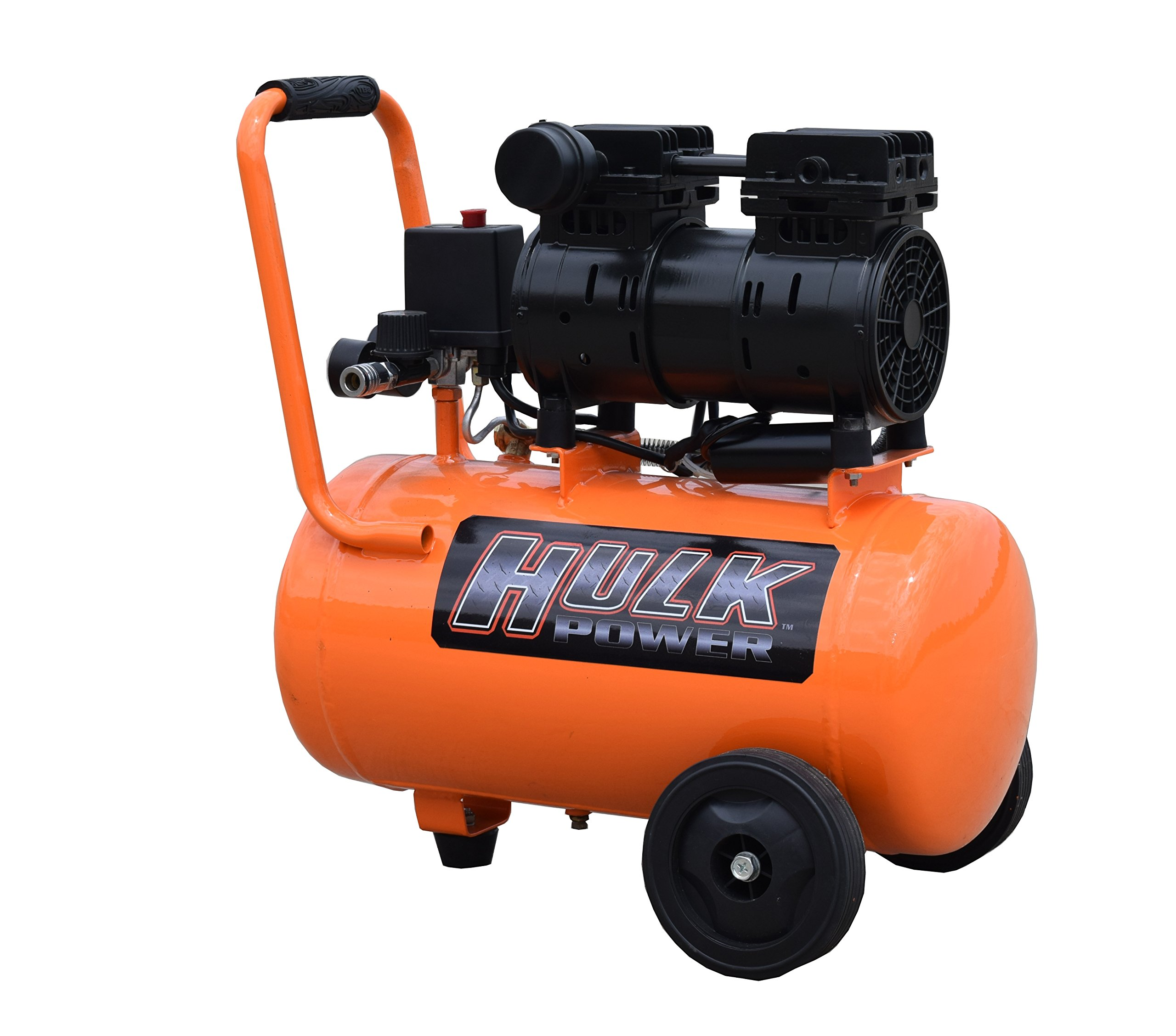 1 HP Quiet Portable Air Compressor, 120 PSI, 6 Gallon, HULK Silent Series, Model HP01P006SS by EMAX Compressor by EMAX Compressor