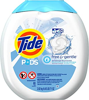 Tide PODS Free & Gentle Laundry Detergent Pacs 81-load Tub