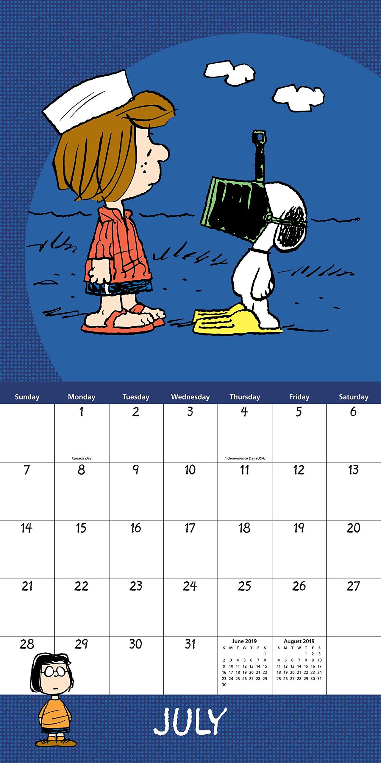 Calendario Snoopy 2020.Peanuts 2019 Wall Calendar Peanuts Worldwide Llc
