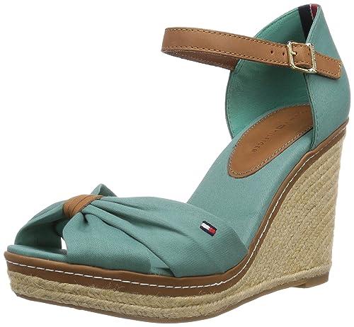 Tommy Hilfiger EMERY 54D - Sandalias de vestir de lona para mujer: Amazon.es: Zapatos y complementos