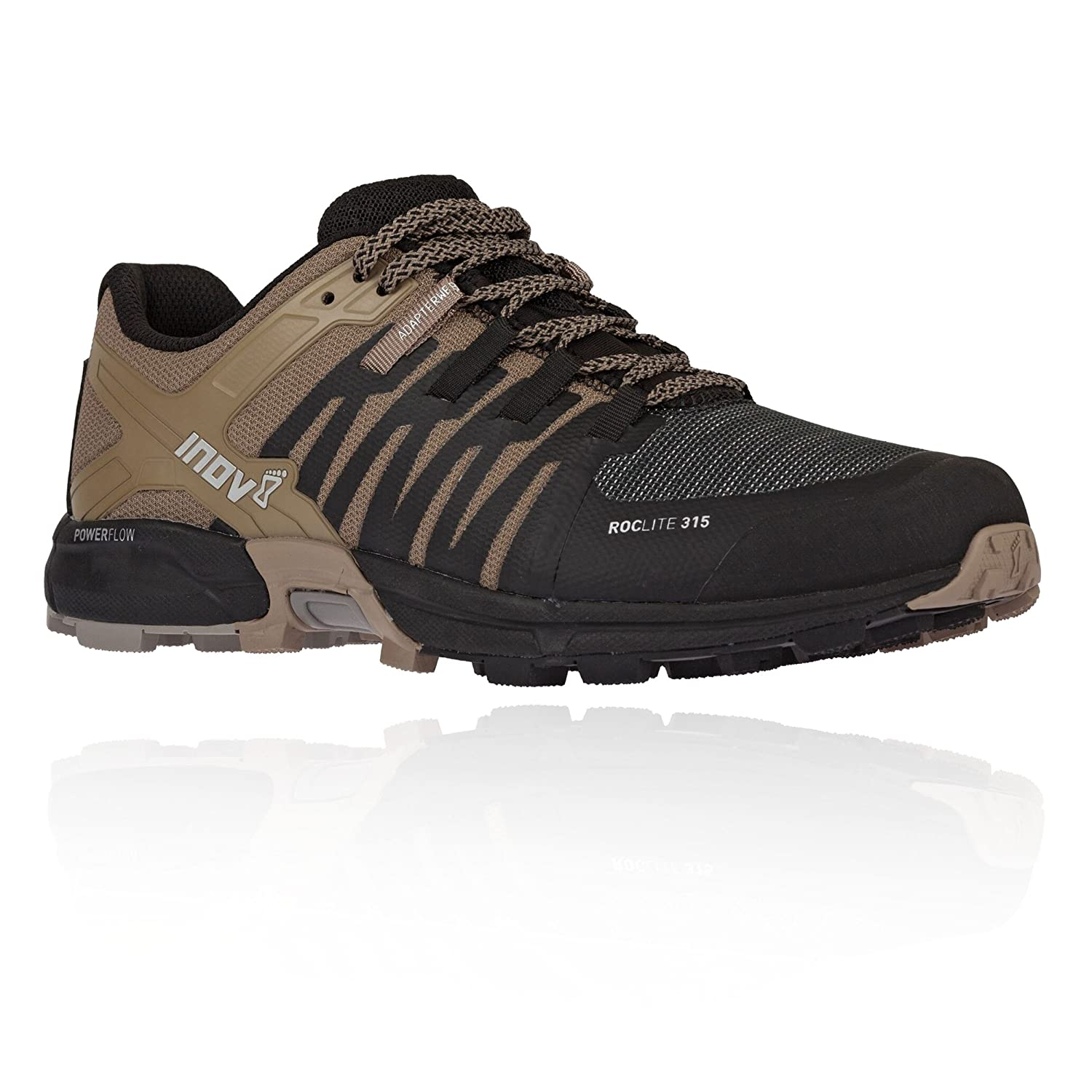 Inov-8 Men's Roclite 315 Running Shoe B079QFMZTR 10.5 M US|Black / Brown