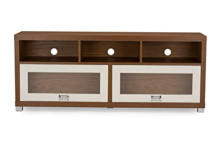 Ideal Amazon.com: Baxton Studio Swindon Modern Two-Tone TV Stand with  WQ08