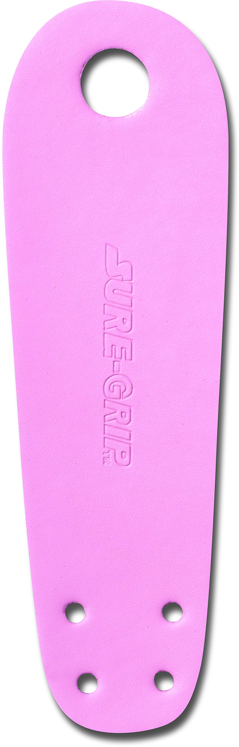 Sure-Grip Leather Toe Guards for Roller Skate - Pink