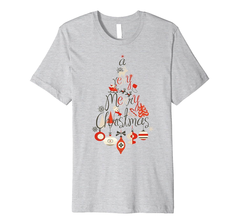 A Very Merry Christmas Elegant Ornaments Tree T-Shirt-ANZ