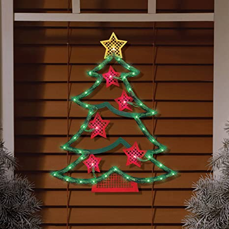 vipasnam christmas decoration lighted xmas tree party holiday window door decor ornament