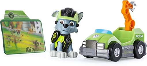 Paw Patrol Mission Paw - Rocky's Repair Kart - Figure and Vehicle