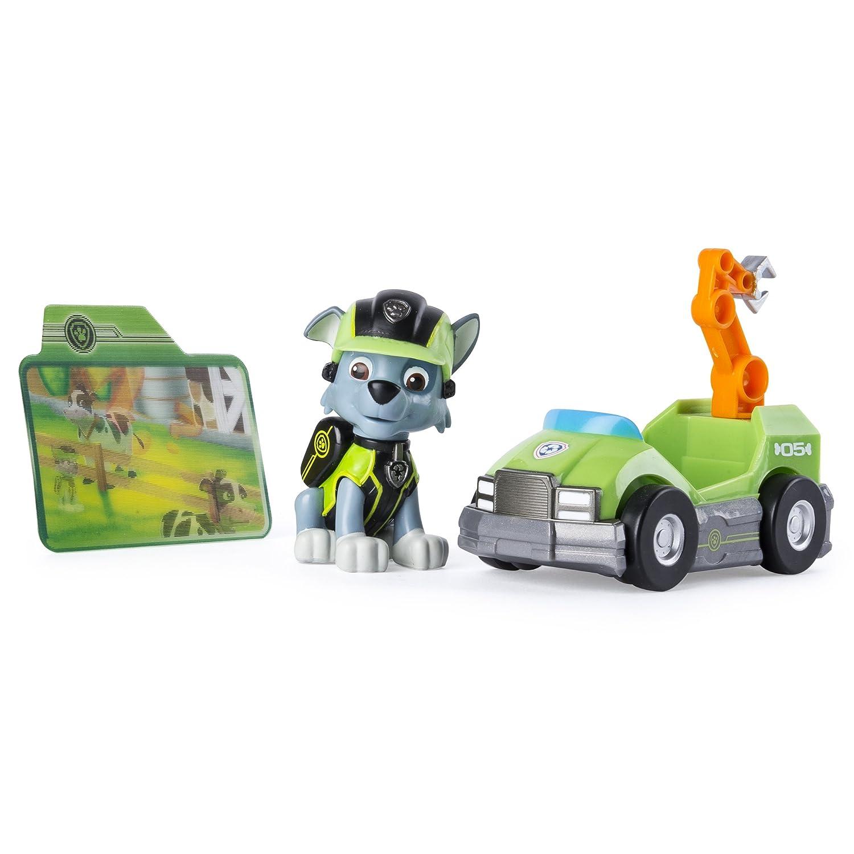 PAW PATROL 6037964Mini véhicule de Mission avec Figurine de Rocky de Pat'Patrouille Spin Master Toys UK 20083771-6037964