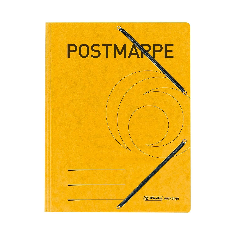 Herlitz Einschlagmappe A4 Postmappe gelb mit Gummizug 1 St/ück