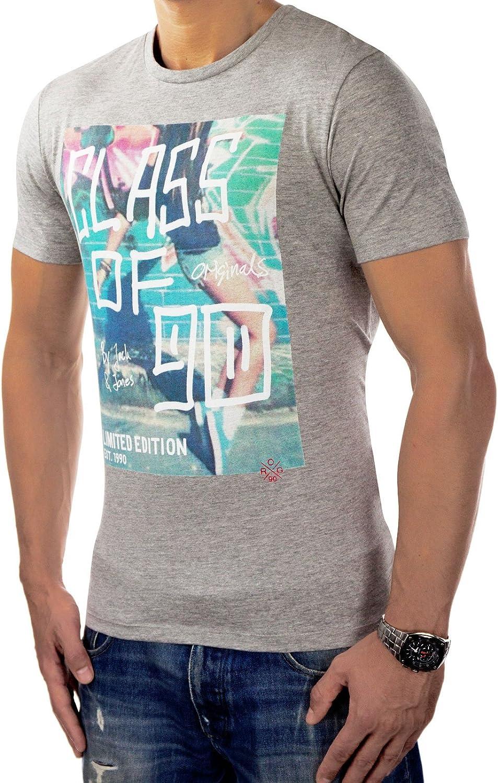 Jack & Jones Originals Cuello Redondo S3 T-Shirt de impresión de ...