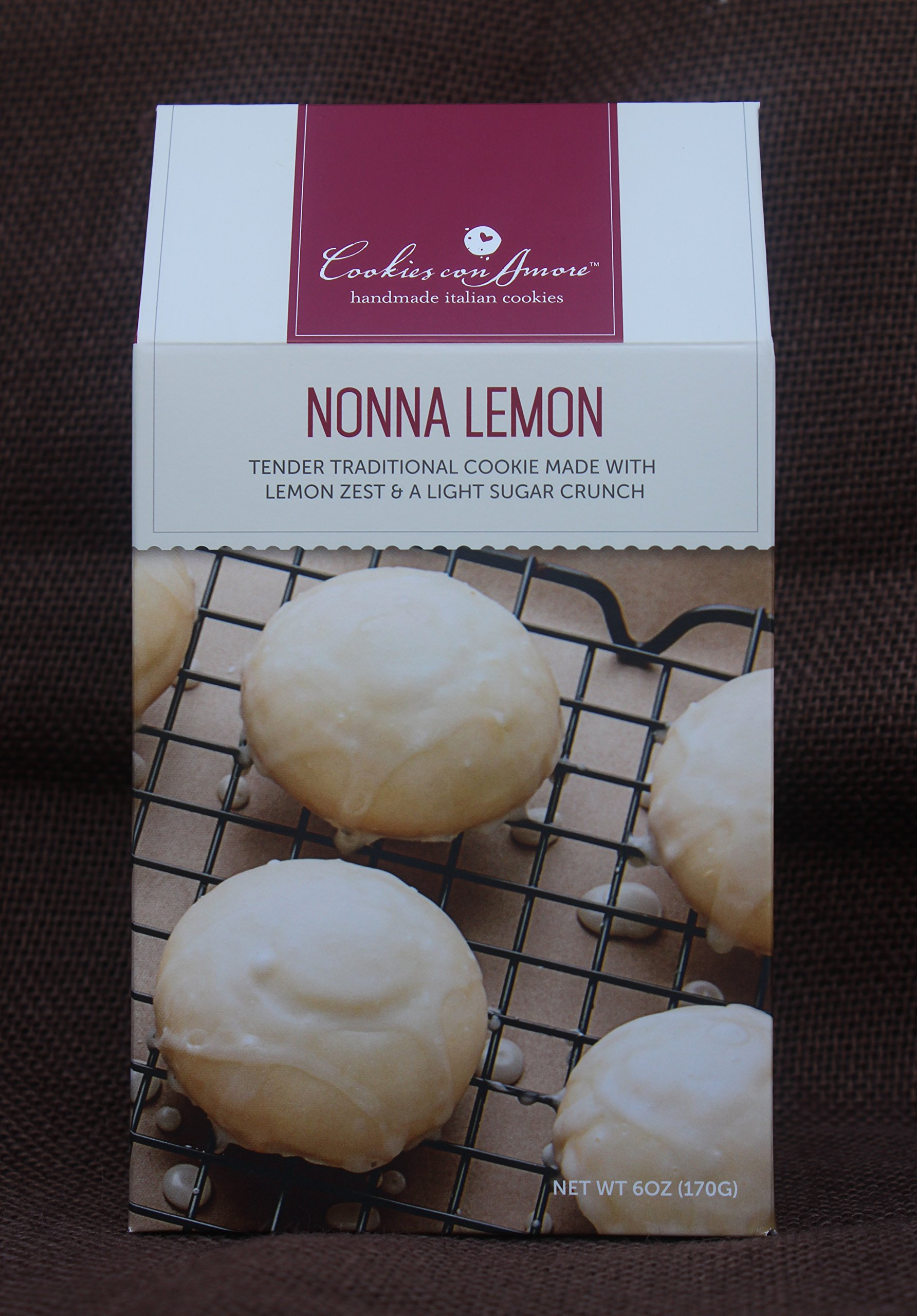 Traditional Nonna Lemon Cookie, 6pk of 6oz