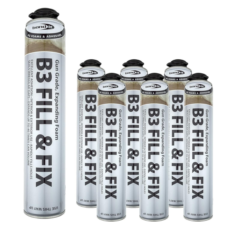 6 pistola 750 ml ampliar espuma de poliuretano de corrección rápida unidades puede profesional/de relleno: Amazon.es: Bricolaje y herramientas