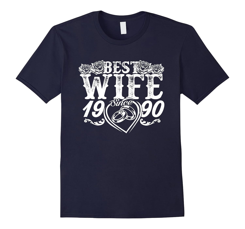 Best Wife Since 1990 T-Shirt 27th Wedding Anniversary Gift-Vaci
