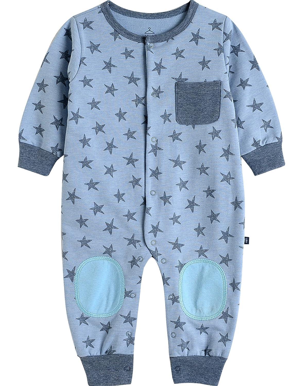 Vaenait baby Saugling Baby Kurzarm Strampler Spielanzug Cute Star Blue BS_205