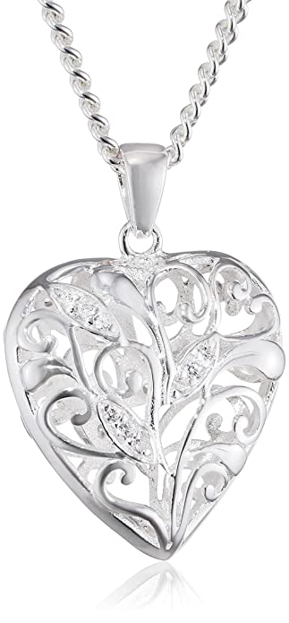 Elements sterling silver ladies p3379c filigree heart pendant elements sterling silver ladies p3379c filigree heart pendant length 41cm aloadofball Gallery