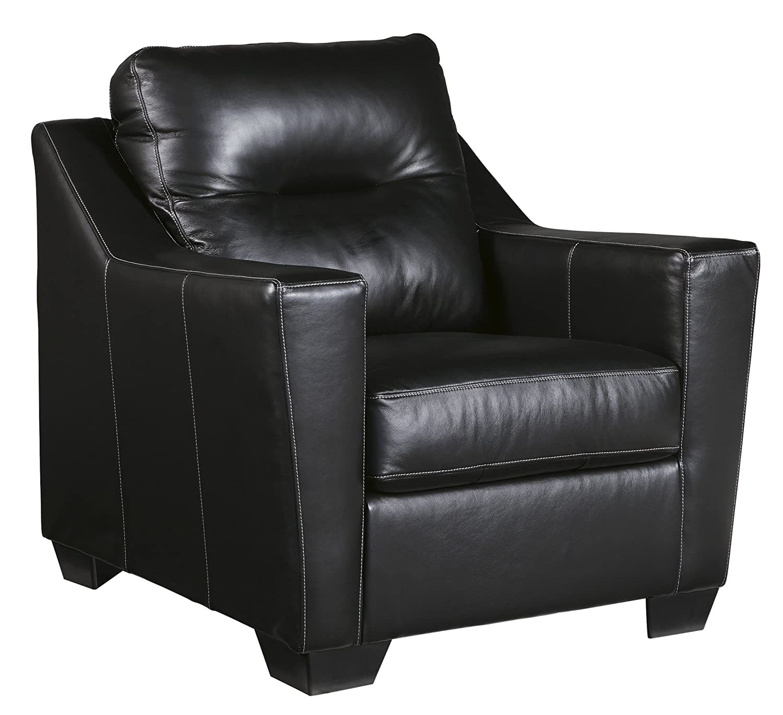 Amazon.com: Ashley Furniture Signature Design   Kensbridge Contemporary Leather  Armchair   Black: Kitchen U0026 Dining