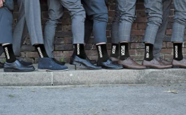 Green Woven Design Best Man Wedding Socks X6S121
