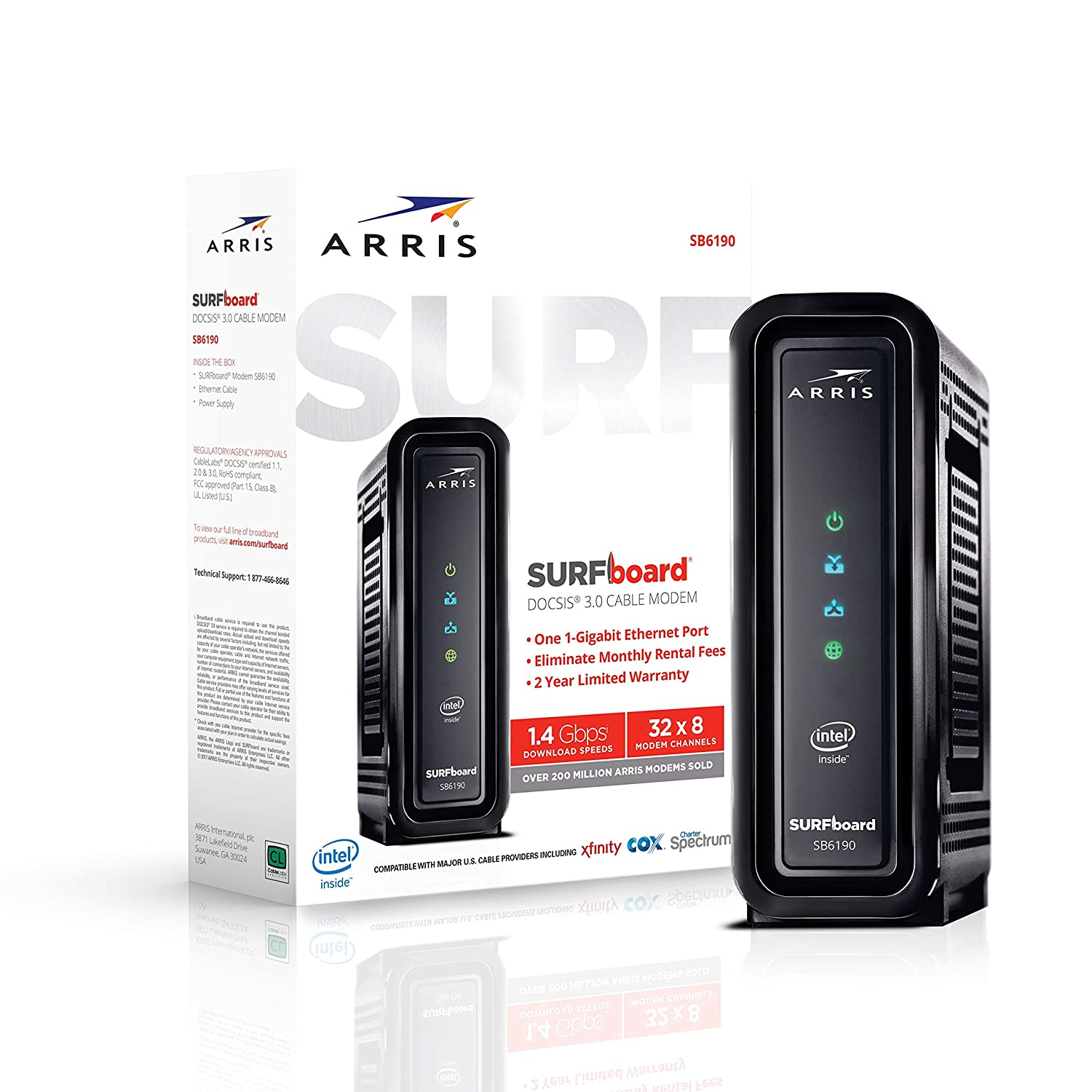 ARRIS SURFboard (32x8) Docsis 3.0 Cable Modem, Certified for Xfinity, on comcast cable hook up diagram, xfinity remote programming, xfinity installation diagram, xfinity hd wiring, comcast phone installation diagram, xfinity xfinity tv diagrams, comcast cable box connection diagram, xfinity dta box diagram, comcast xfinity diagram, comcast install diagram, xfinity cabling diagram, moca diagram, xfinity switch, comcast dvr setup diagram, xfinity cable,