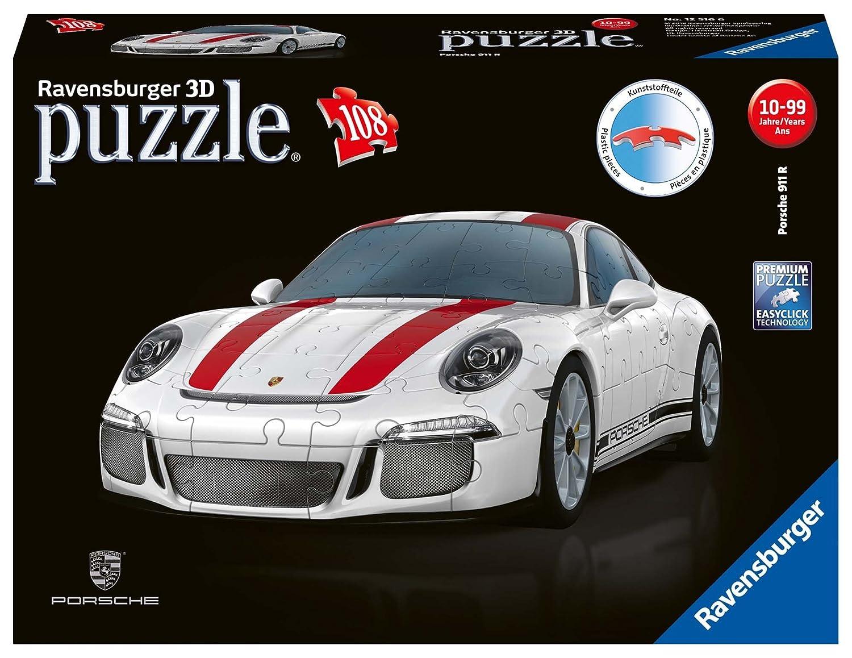 Ravensburger Erwachsenenpuzzle 12528 Porsche 911 R 3D-Puzzle, bunt Ravensburger Spielverlag